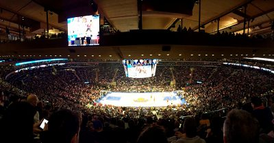 vedere una partita NBA al madison square garden-panoramica stadio