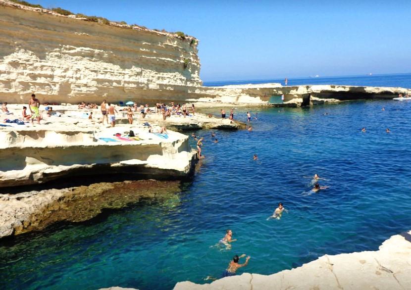 St. Peter's Pool-spiaggia-roccia-vacanza a Malta