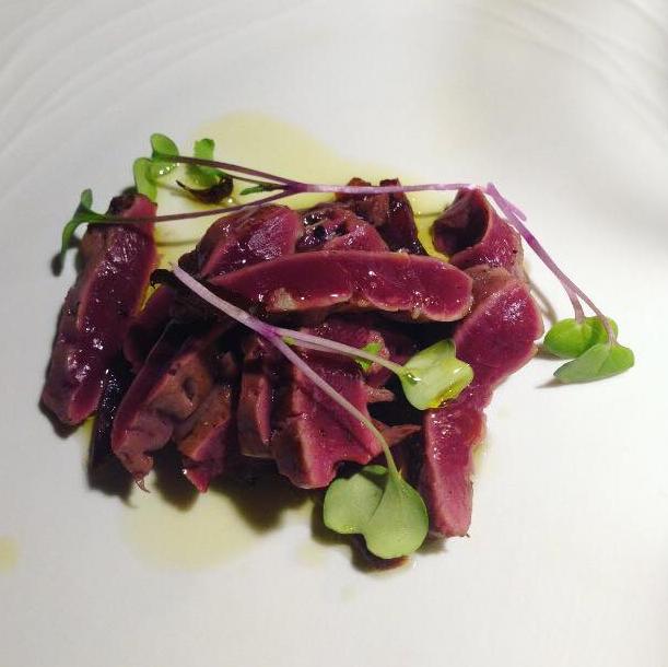 tagliata-cuore-manzo-ristorante stellato a bologna