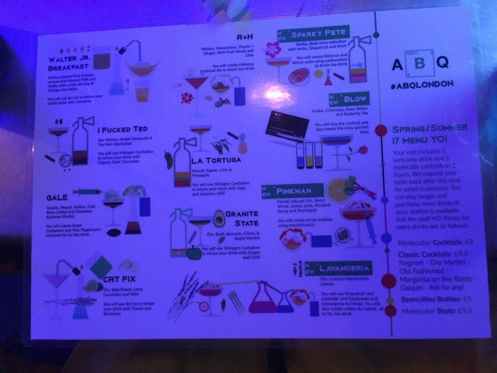 pub a tema breaking bad-menu-abq-london