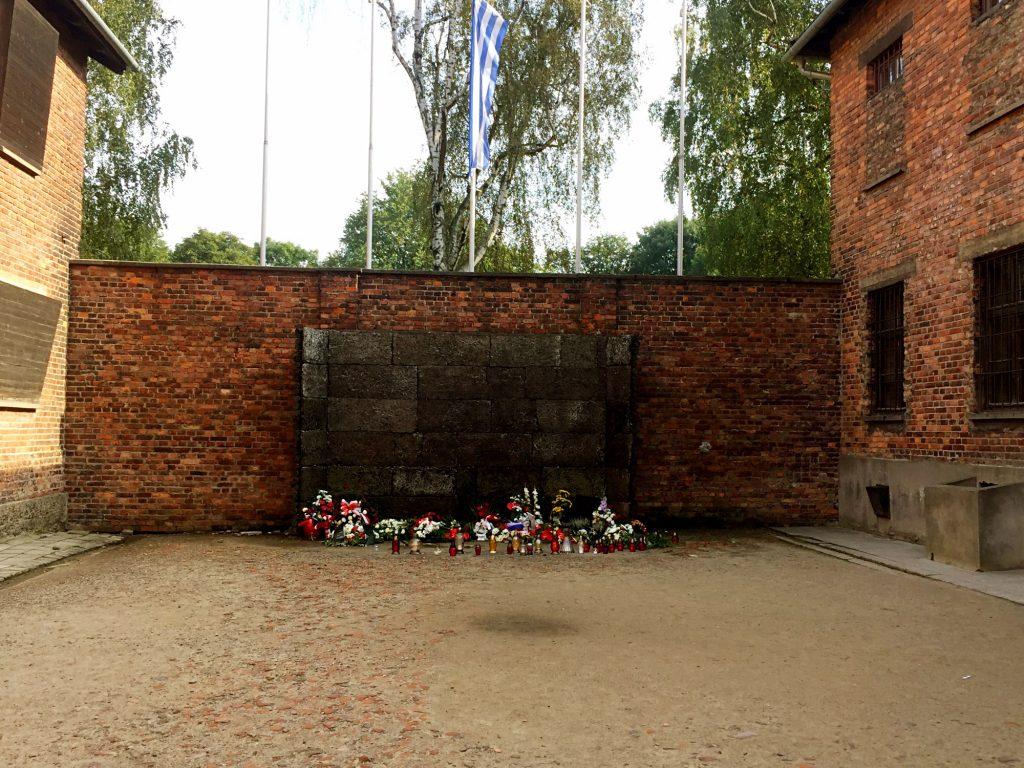 visita ai campi di concentramento di Auschwitz e Birkenau-muro-della-morte