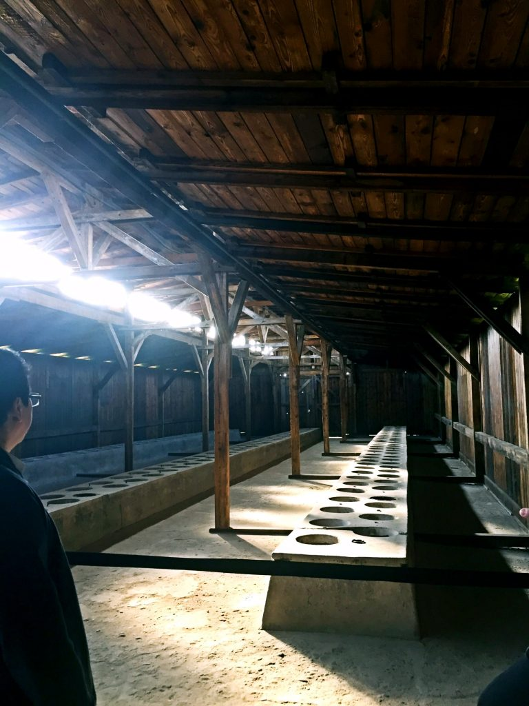 visita ai campi di concentramento di auschwitz e birkenau-latrina