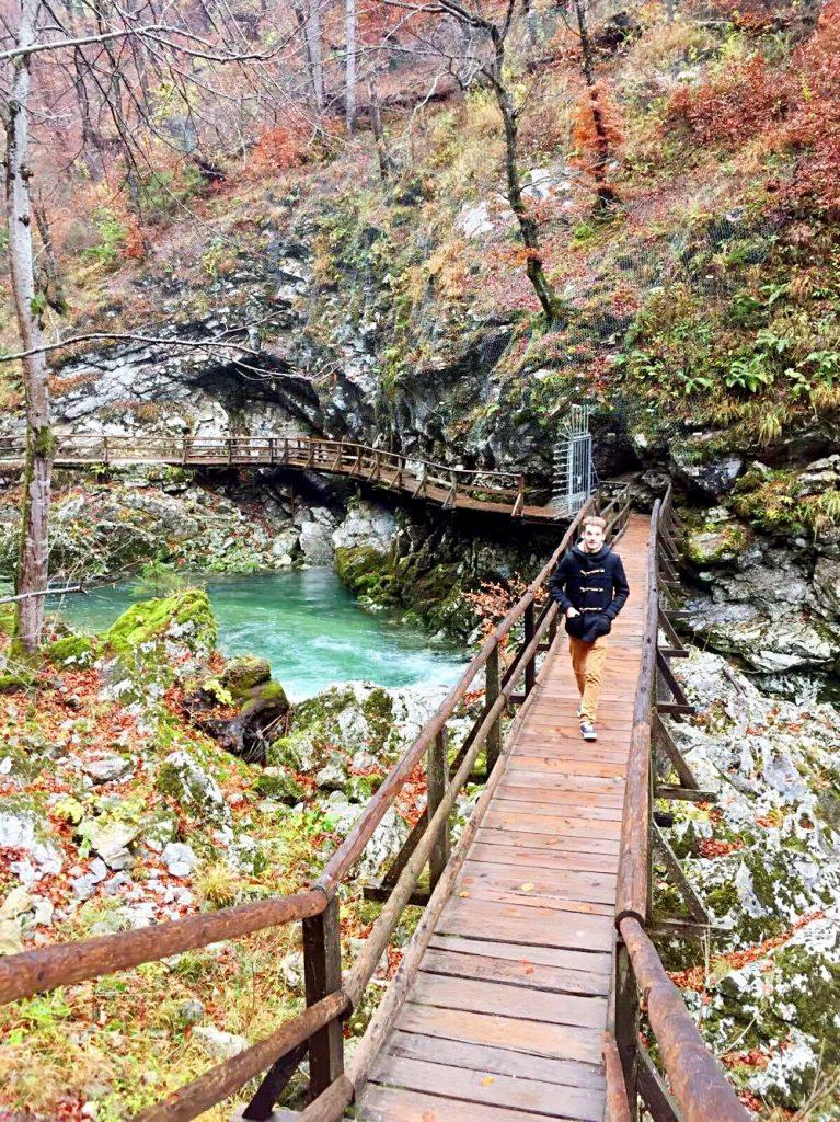 due giorni sul lago di bled-ponte-della-gola-di-vintgar