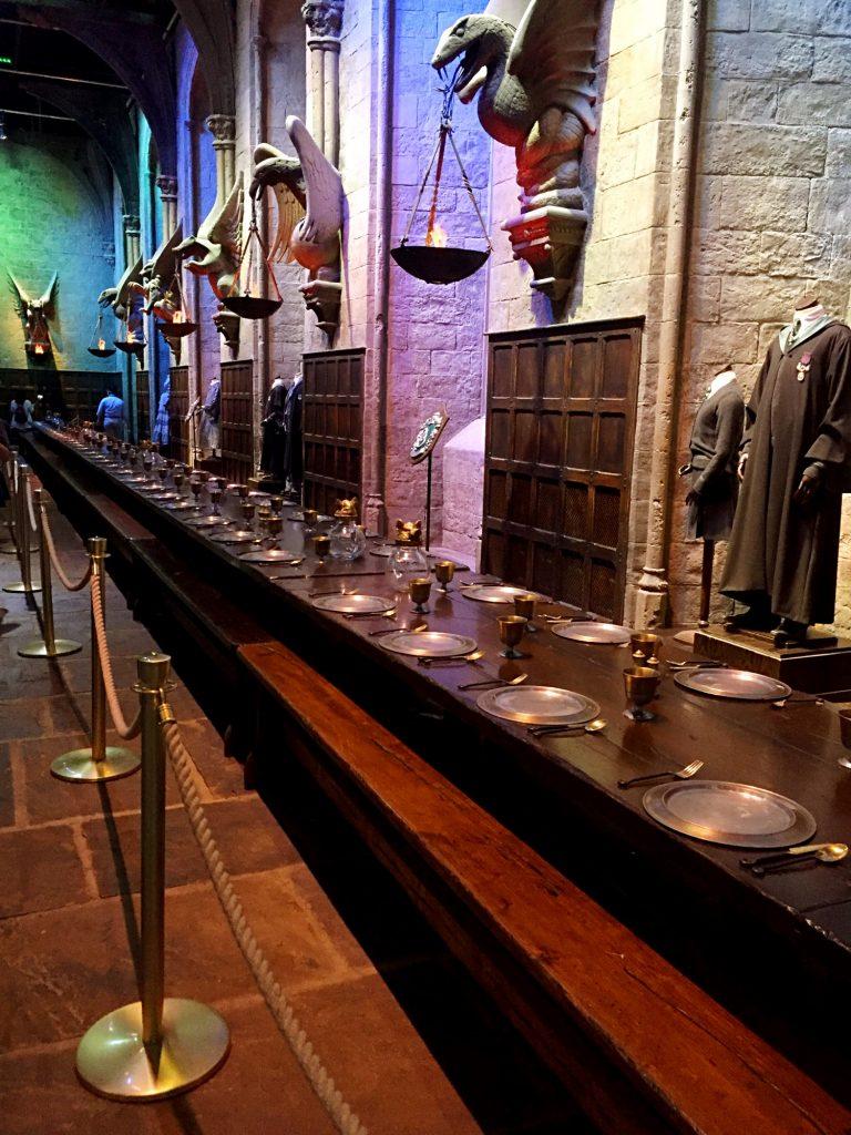 visitare gli Harry Potter Warner Bros Studios-sala-grande