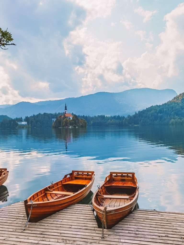 due giorni sul lago di Bled-barche