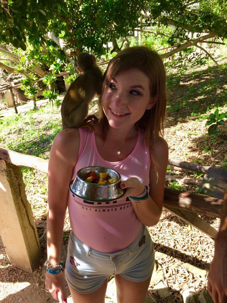 monkeyland a punta cana-sara-scimmietta