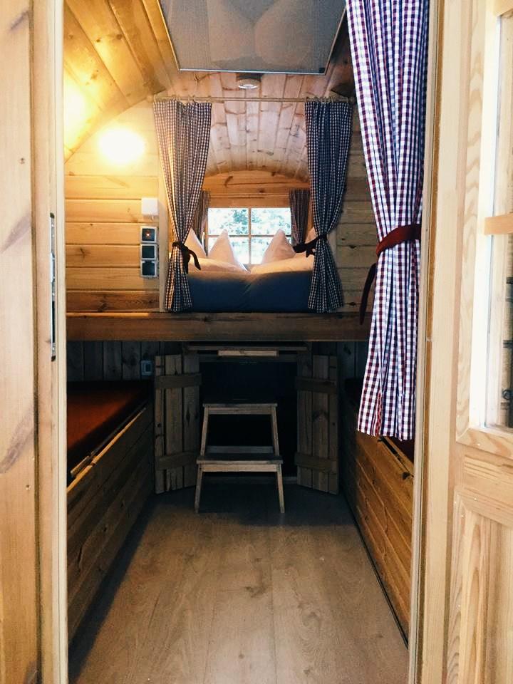 dormire in una botte di vino in Sud Tirol-interno