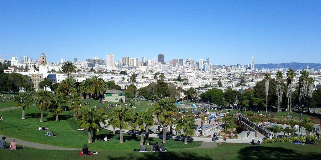 San Francisco dall'alto-mission-dolores-park