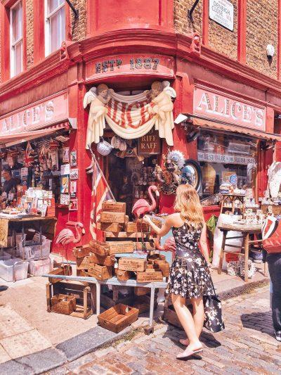 negozio di antiquariato Alice's in Portobello Road