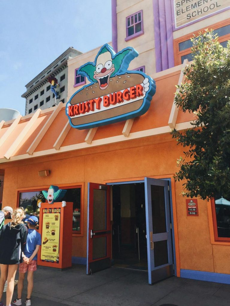 universal studios di los angeles-krusty-burger