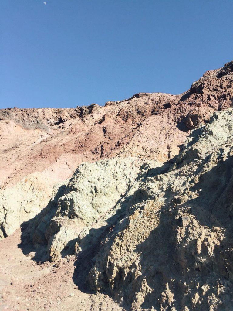 Death Valley in un giorno-artist's-palette-vicino