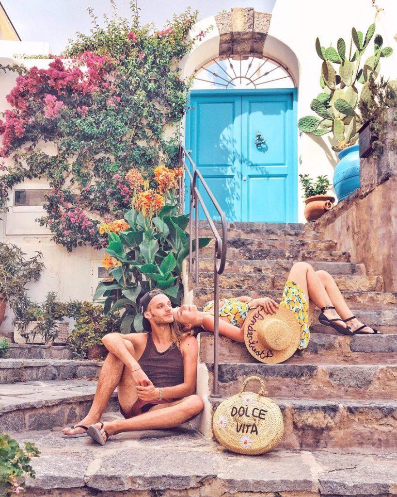 due giorni a Ischia-porta-blu