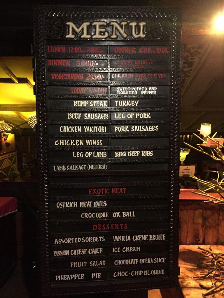 ristorante dove si mangia solo carne-menu