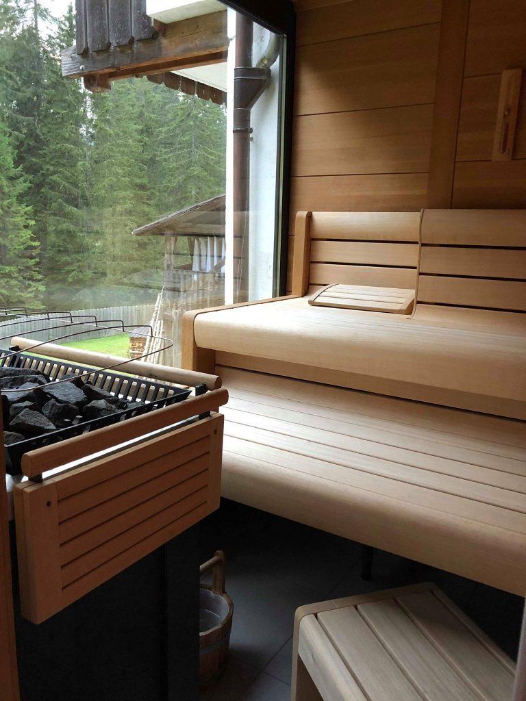 albergo vicino al lago di Carezza-interno-sauna