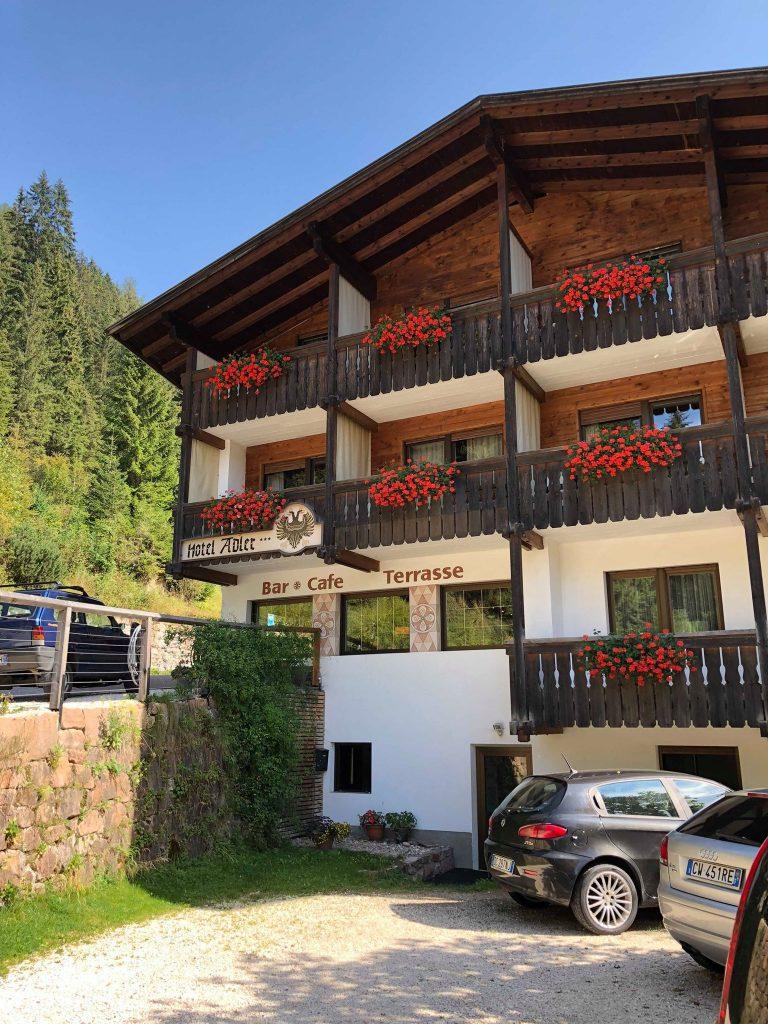 albergo vicino al lago di Carezza-esterno