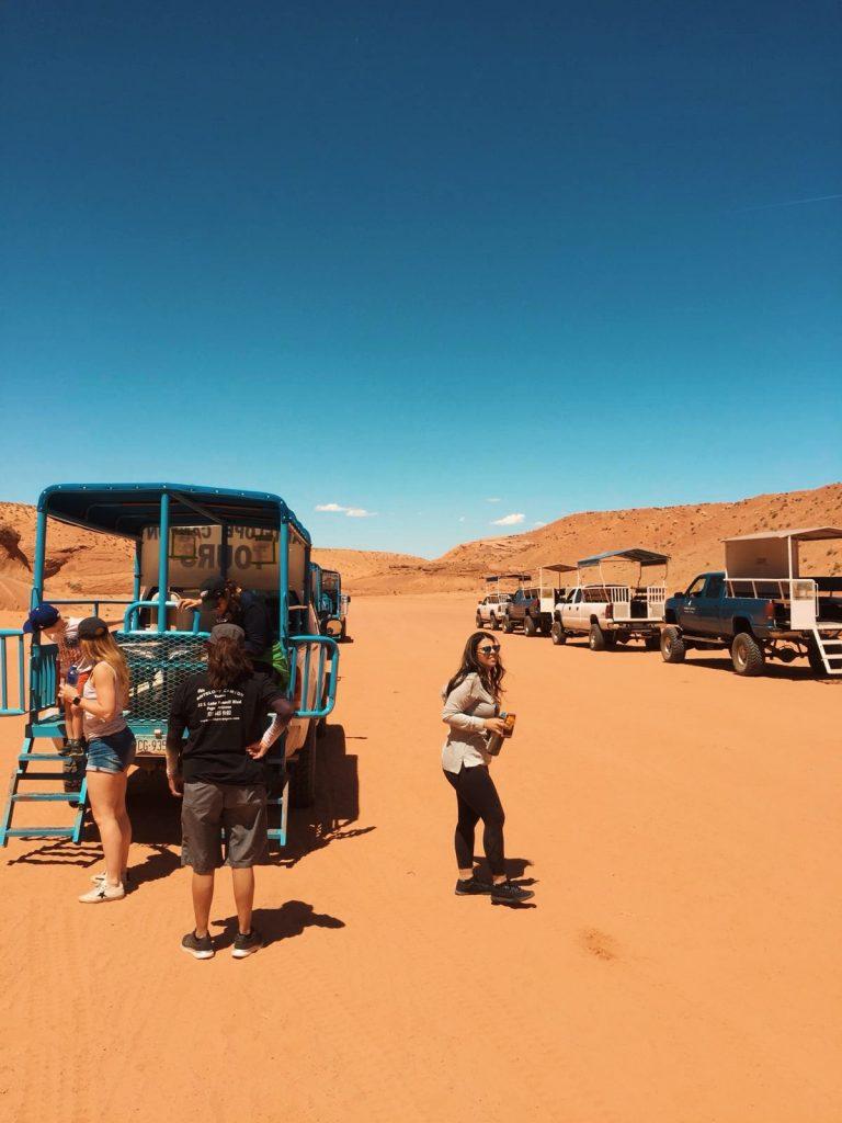 escursione ad Antelope Canyon-prima-di-entrare