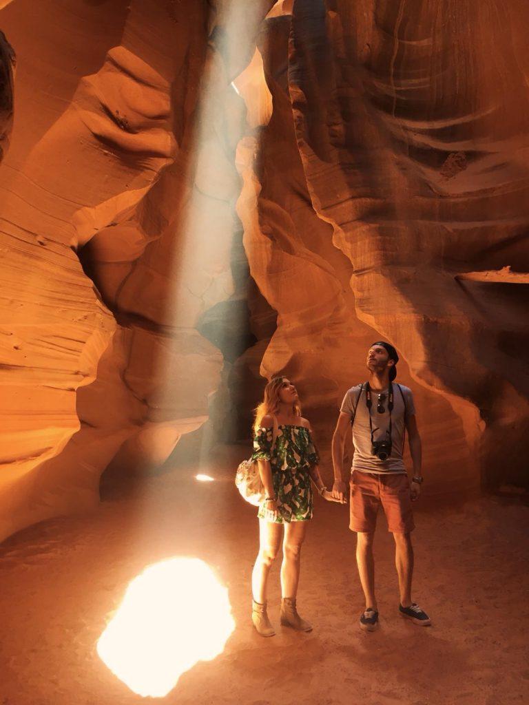 escursione ad Antelope Canyon-fasci-luce