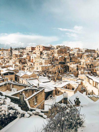 come arrivare a Matera da Bari-Matera-sotto-la-neve