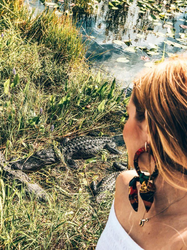 come visitare le Everglades-sara-e-alligatore