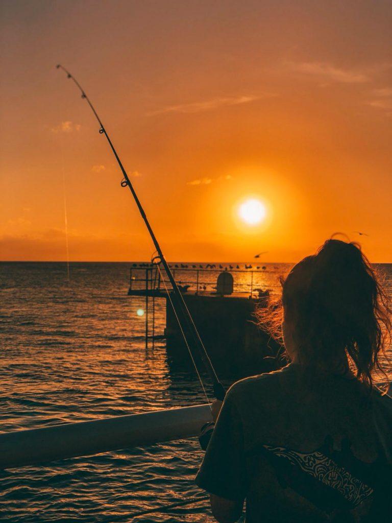 Key West in un giorno-tramonto-molo