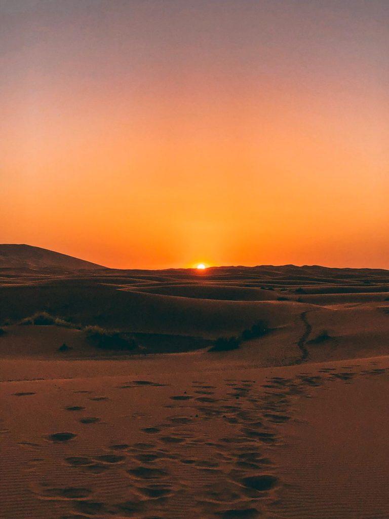 dormire nel deserto in Marocco-alba