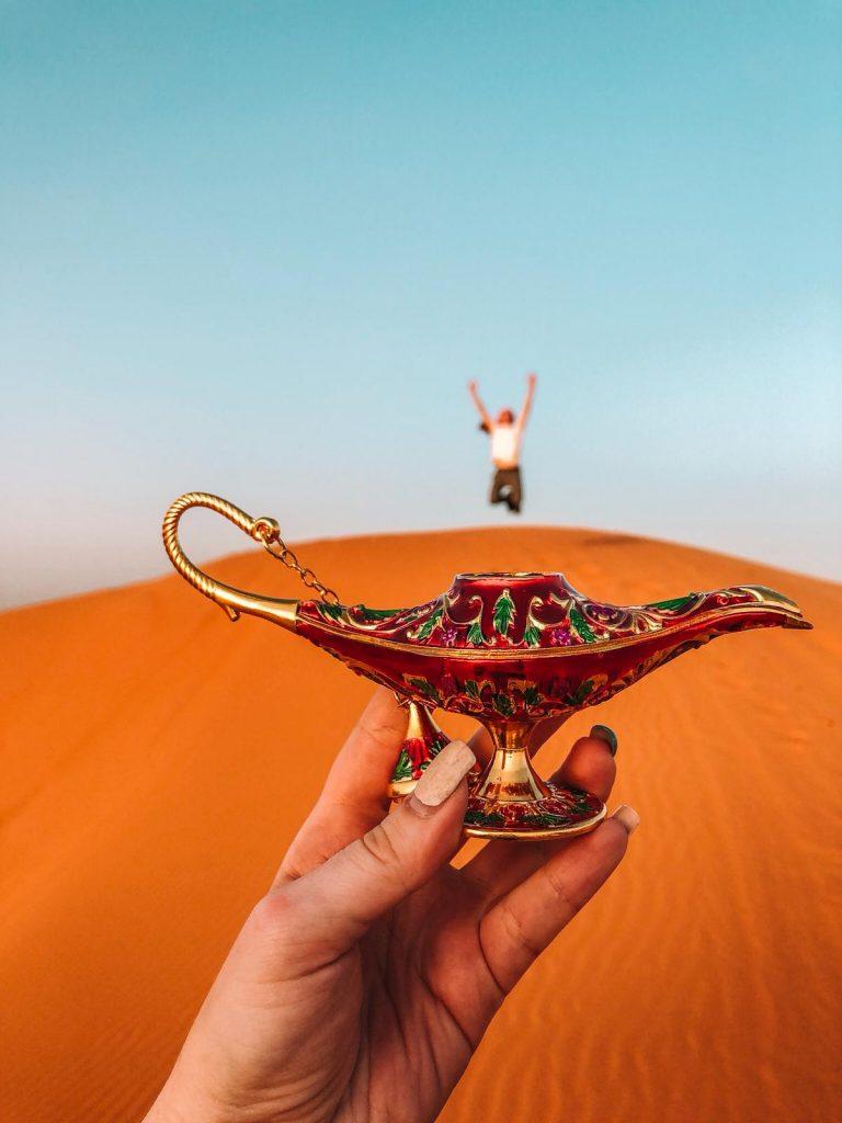 dormire nel deserto in Marocco-lampada-aladino