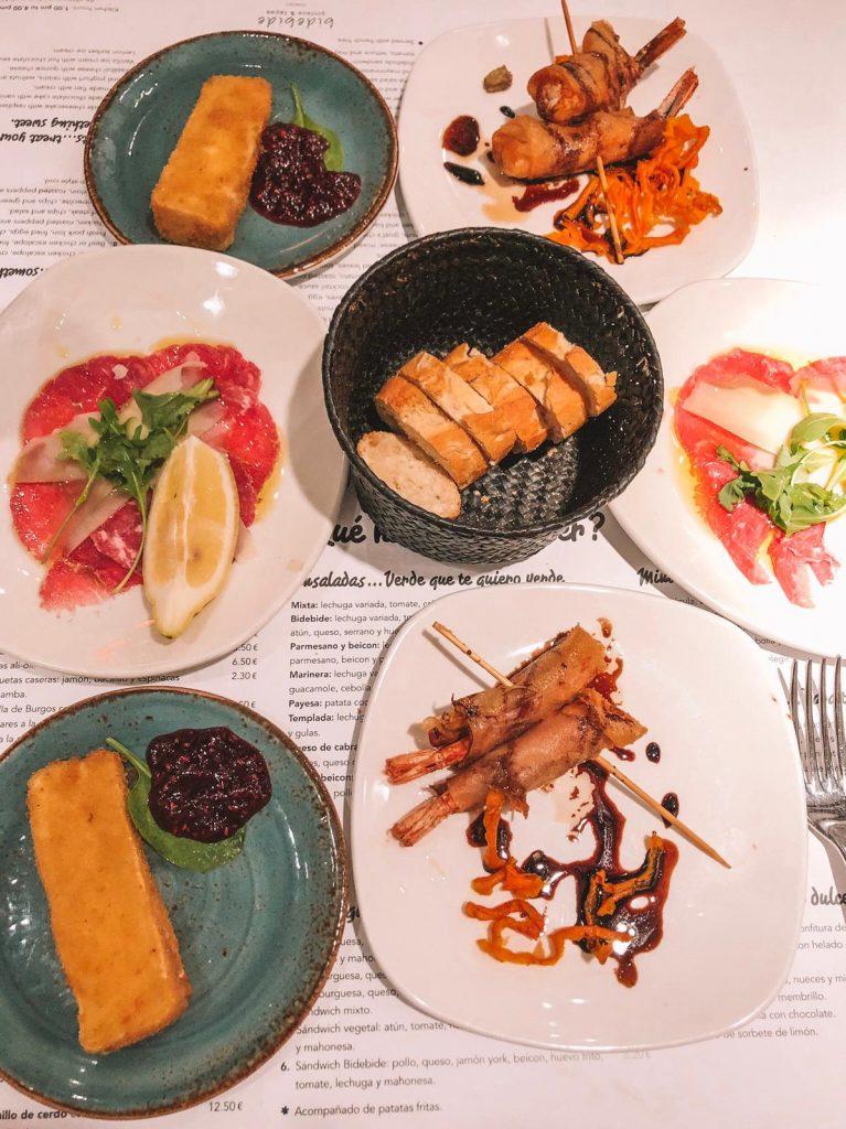 ristoranti economici a Ibiza-tapas-pintxos-bide-bide