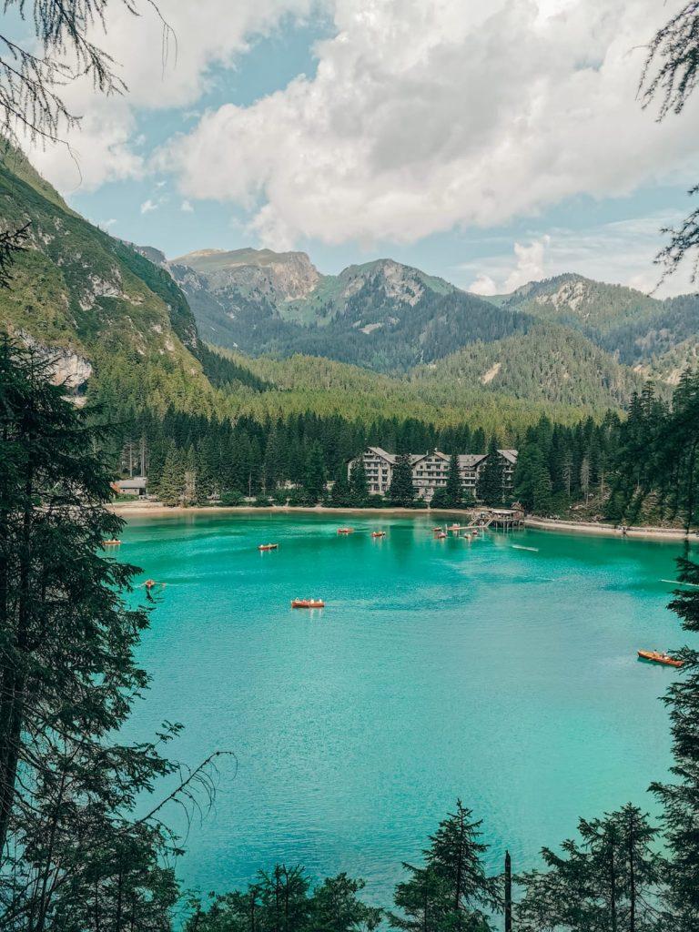 escursione al Lago di Braies-vista-alto