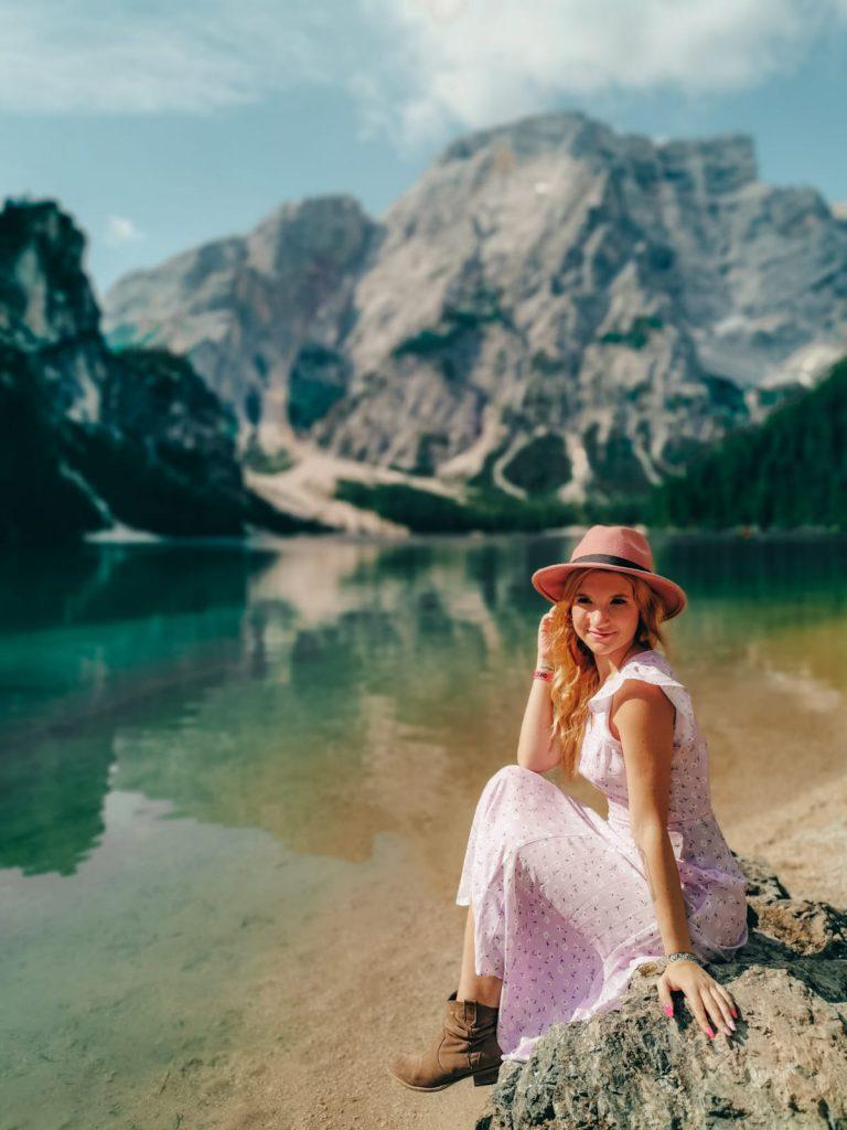 escursione al Lago di Braies-sara-lago-braies