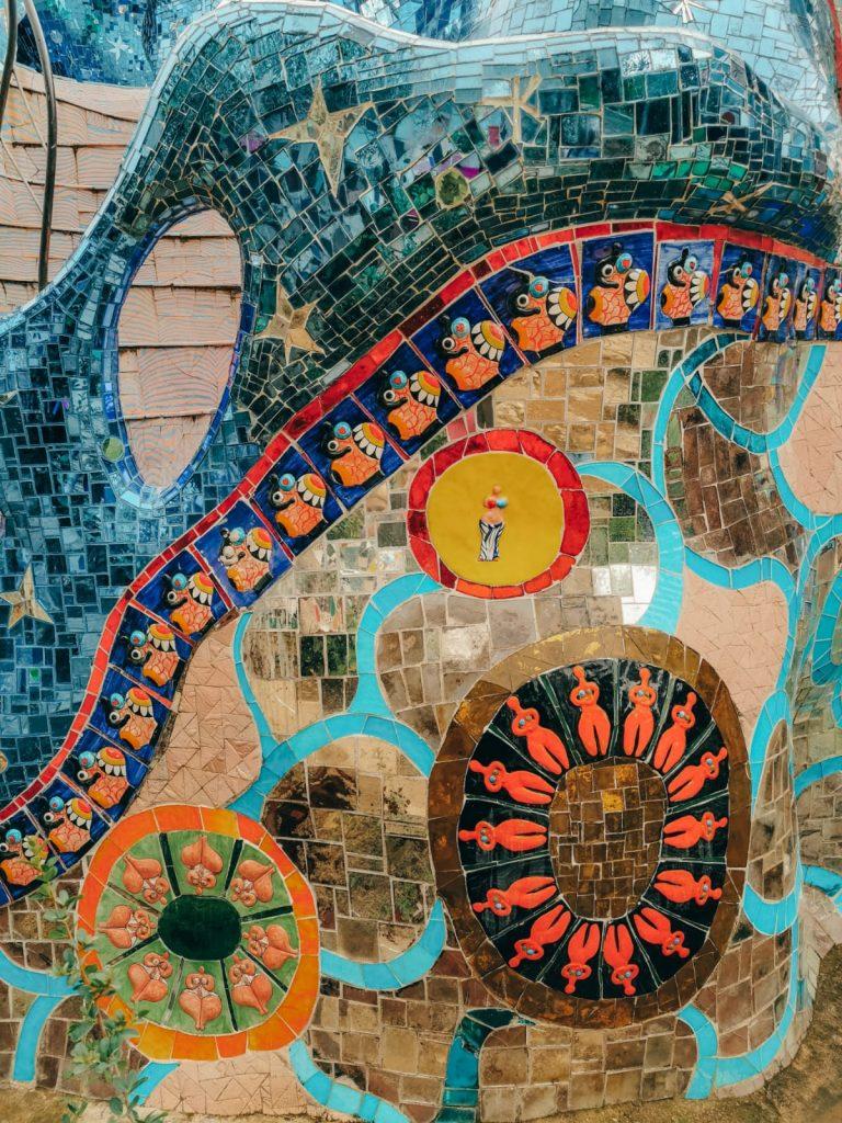 Giardino dei Tarocchi-dettaglio-scultura