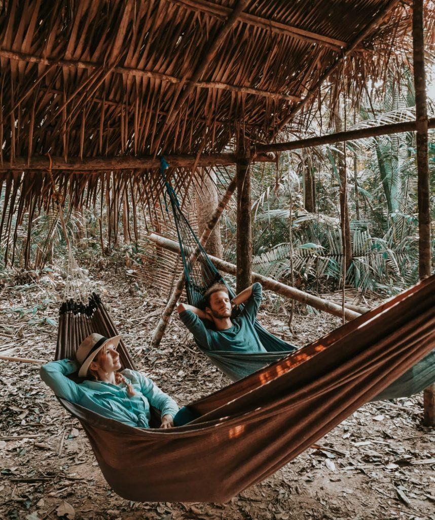 dormire nella foresta amazzonica-amache