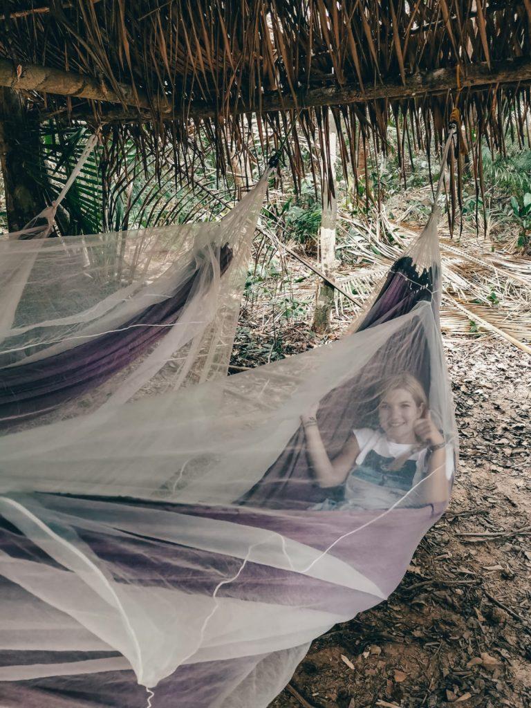 dormire nella foresta amazzonica-sara-amaca