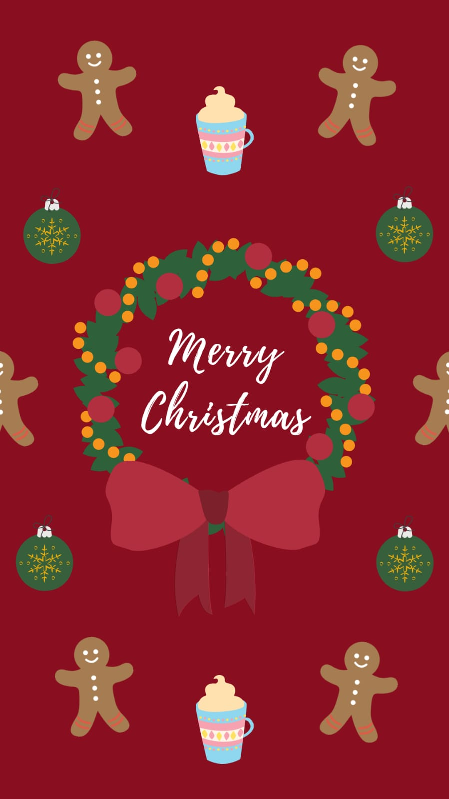 sfondi natalizi per smartphone-merry-xmas-rosso
