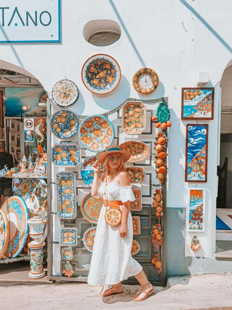 Positano in un giorno-negozi-ceramiche