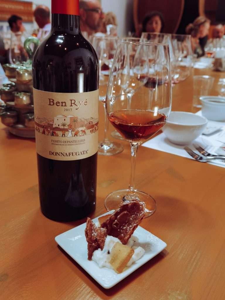 degustazione di Donnafugata-vino