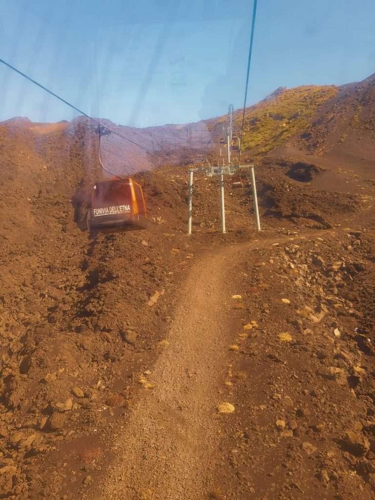 escursione ai crateri sommitali sull'Etna-funivia