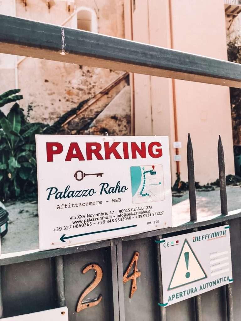 Cefalù in un giorno-parcheggio-raho