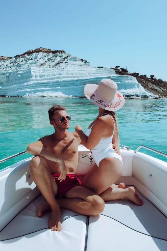 scala dei turchi in barca-panorama