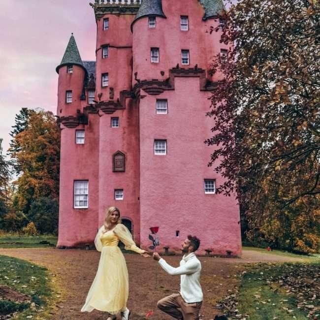 castello rosa in Scozia-craigievar-castle