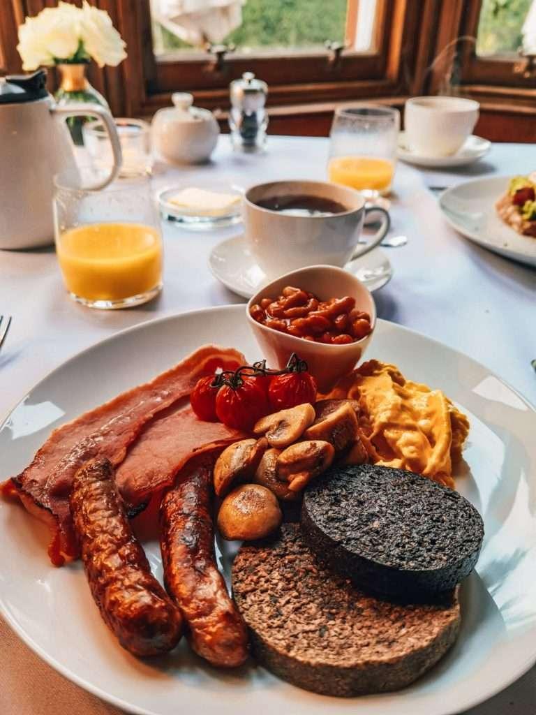 castello rosa in Scozia-colazione-scozia
