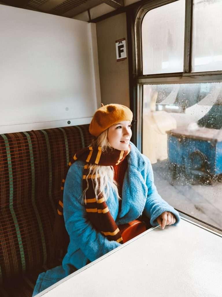 treno di Harry Potter in Scozia-dentro-jacobite-train