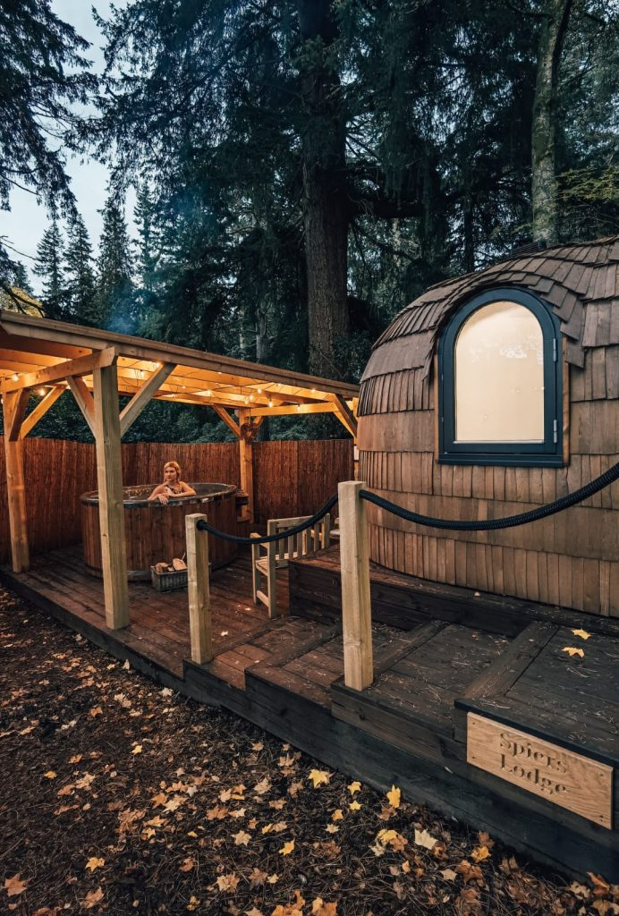 glamping in Scozia-culdees-jacuzzi