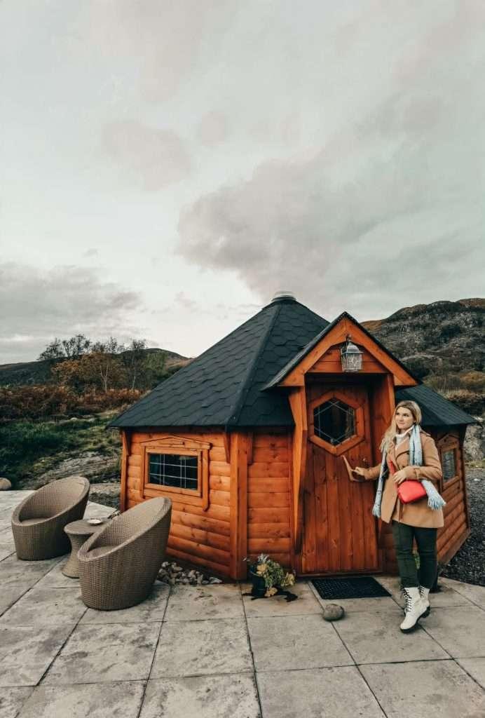alloggi insoliti in Scozia-leven-view-lodge