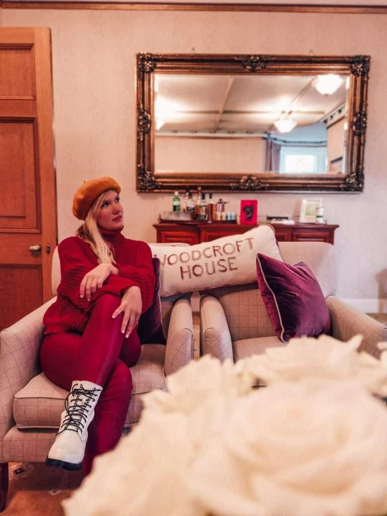 castello rosa in Scozia-sala-ospiti