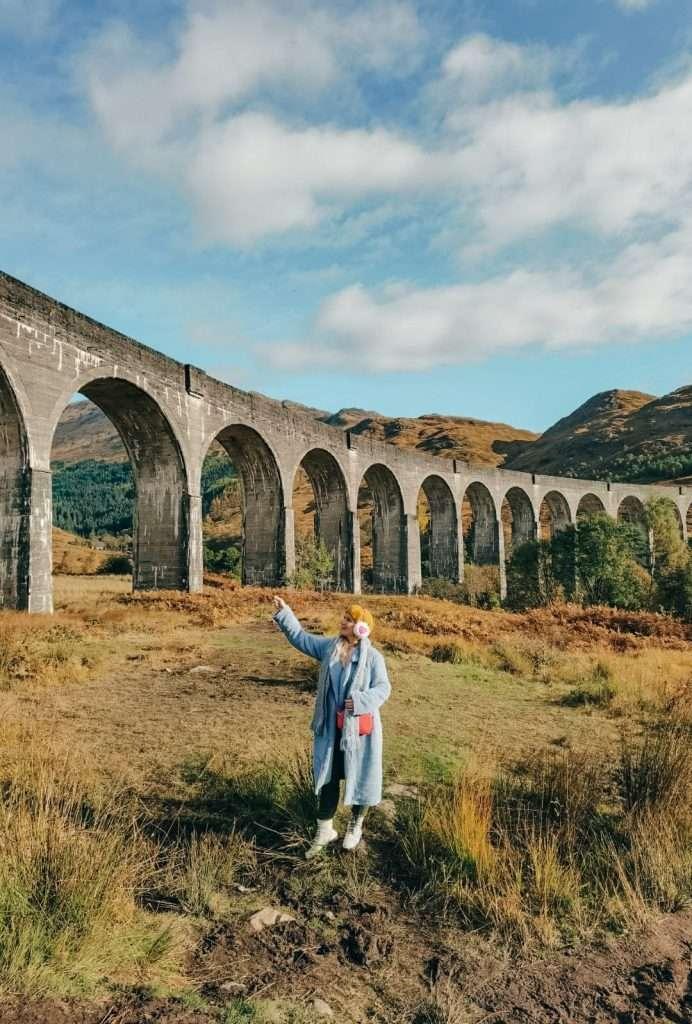 Come vedere il treno di Harry Potter-viadotto-dal-basso