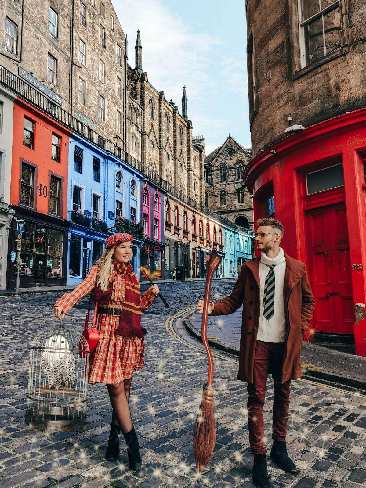 luoghi Harry Potter a Edimburgo-victoria-street