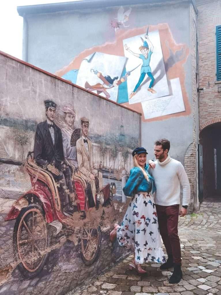 murales a saludecio-macchina