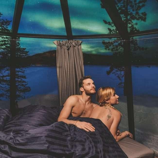 alloggi insoliti a Kiruna-aurora hut