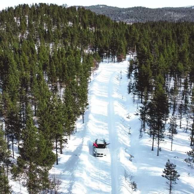 come arrivare a Kiruna-macchina
