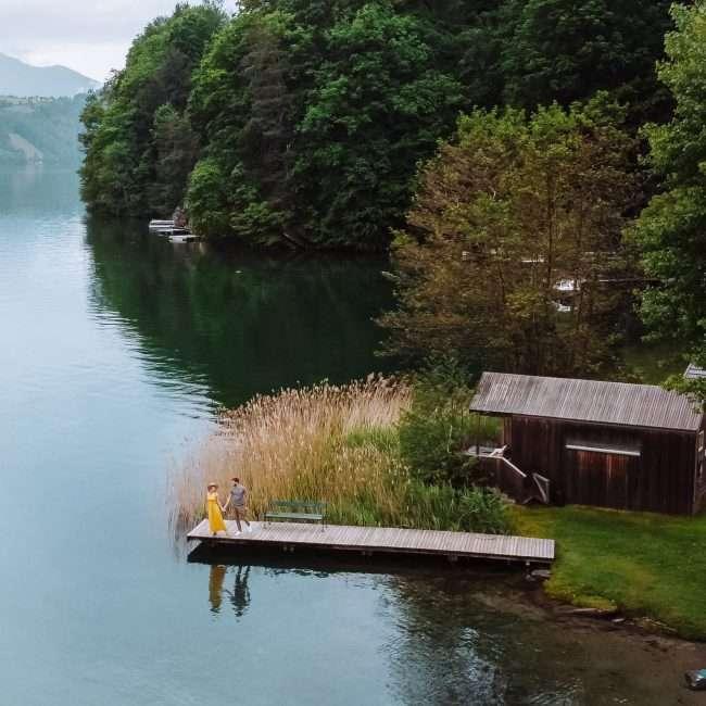lago Millstätter See-bivacco